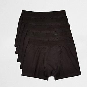 Schwarzer Slip mit Markenlogo, Multipack