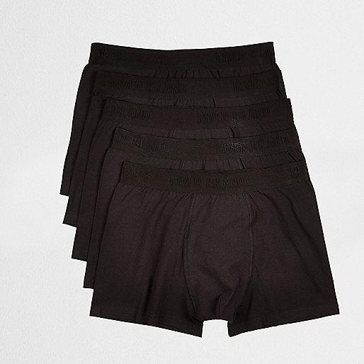 Black branded boxers multipack