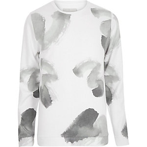 White RVLT paint brush print sweatshirt