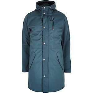 Blue RVLT padded hooded coat