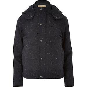 Navy RVLT wool-blend jacket