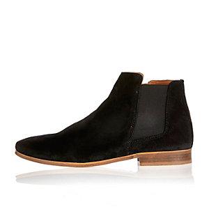Black suede smart Chelsea boots