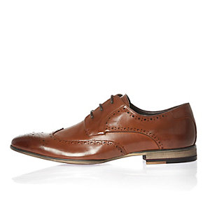 Brown smart leather brogues
