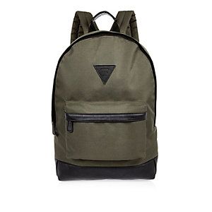 Green clip front backpack