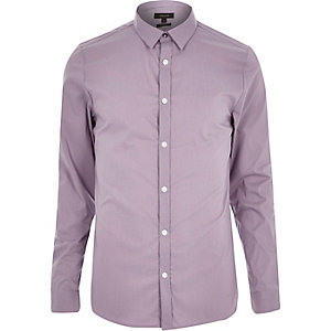 Light purple skinny stretch shirt