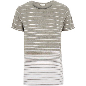 Grey Jack & Jones Premium stripe t-shirt
