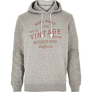 Grey Jack & Jones Vintage print sweatshirt