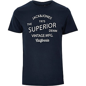 Navy Jack & Jones Vintage print t-shirt