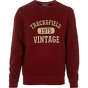 Red Jack & Jones Vintage print sweatshirt