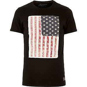 Grey Jack & Jones Vintage flag t-shirt