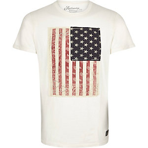 Blue Jack & Jones Vintage flag t-shirt