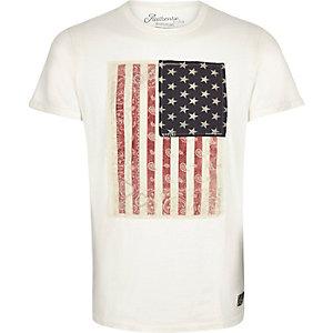 Blue Jack & Jones Vintage flag t-shirt