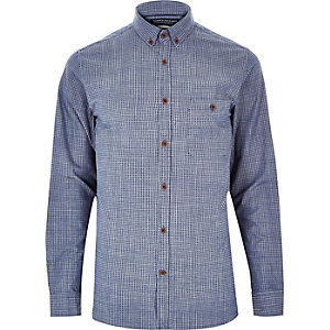 Blue Jack & Jones Premium denim shirt
