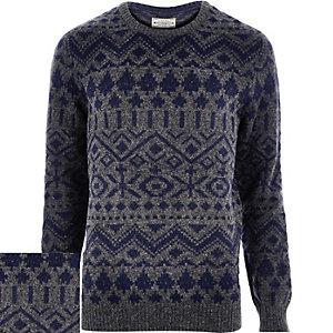 Navy Jack & Jones Vintage knitted jumper
