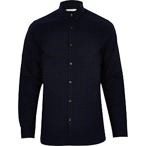 Navy Jack & Jones Premium check shirt