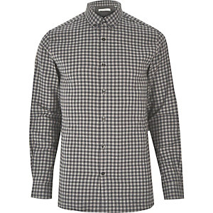 Grey Jack & Jones Premium check shirt