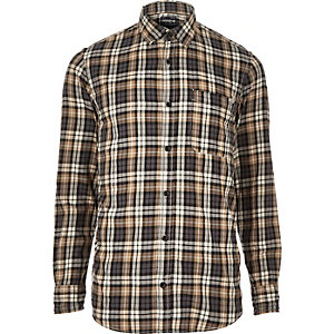 Grey Jack & Jones Vintage check shirt