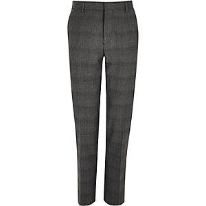 Grey Prince of Wales slim pants