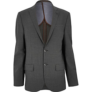 Grey gingham skinny jacket