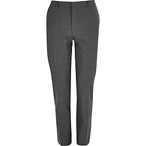 Grey gingham skinny pants
