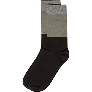 Black block colour socks