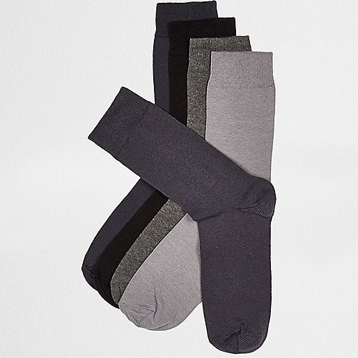 Grey RI icon socks multipack