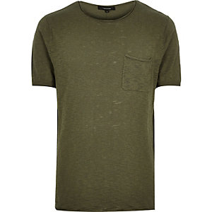 Khaki short sleeve top