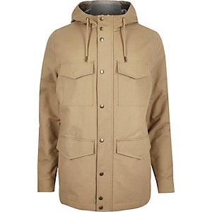 Brown four pocket coat