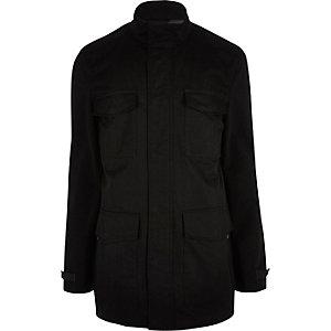 Black minimal four pocket jacket