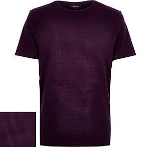 Purple grid texture t-shirt