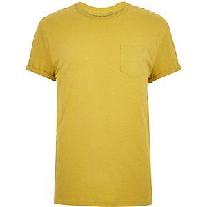 Dark yellow chest pocket t-shirt