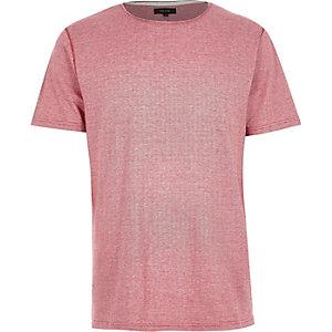 Red stripe short sleeve t-shirt