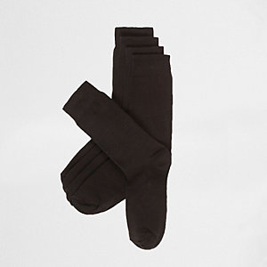 Plain black socks pack