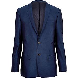 Bright blue skinny suit jacket