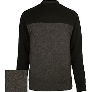 Dark grey turtle neck sweatshirt
