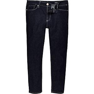 Dark blue Eddy skinny stretch cropped jeans