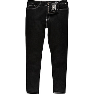 Black wash Eddy skinny stretch cropped jeans