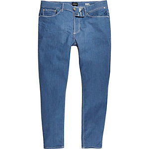 Mid blue Sid skinny stretch cropped jeans
