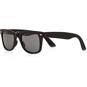 Black branded wayfarer-style sunglasses