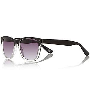 Black block retro sunglasses