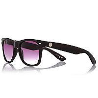 Braune Retro-Sonnenbrille mit Markenlogo