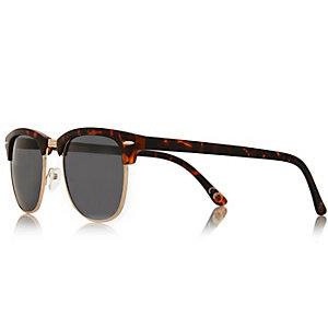 Brown tortoise flat top sunglasses