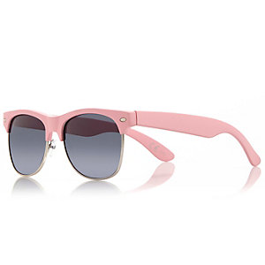 Pink chunky flat top sunglasses