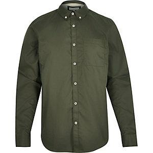 Olive green twill shirt