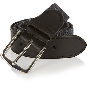 Dark grey woven belt