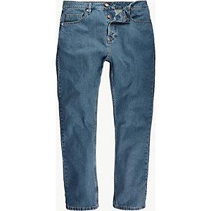 Light wash high waisted slim jeans