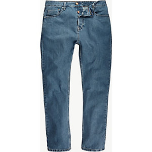 Light wash high waisted slim jeans