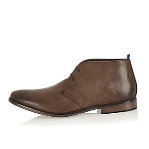 Brown smart chukka boots