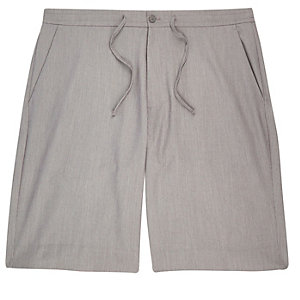 Grey drawstring casual shorts