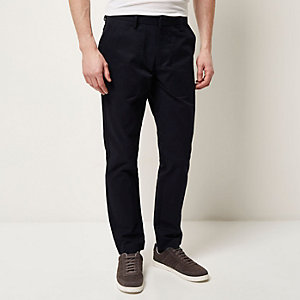 Navy pocket slim trousers
